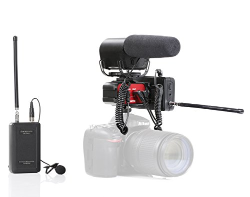 Saramonic Video Recording Bundle with Shotgun Microphone, VHF Wireless Lav System, and 2-Channel Audio Mixer for DSLR Cameras & Camcorders (Canon 60d Battery Pack compare prices)