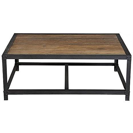 Indhouse Design-Couchtisch Loft und industriellen Stil Vintage in Eisen und Holz