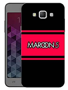 """Humor Gang Maroon 5 Minimal Printed Designer Mobile Back Cover For """"Samsung Galaxy E5"""" (3D, Matte, Premium Quality Snap On Case)"""
