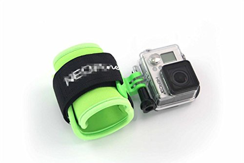 Fnkaf 90 Degrees Short Connector Equips With The Wrist Strap For Sport Camera Green
