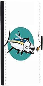 Snoogg Albacore Tuna Fish Retro Designer Protective Phone Flip Case Cover For Apple Iphone 5 / 5S