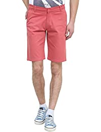 Colors Couture Smooth Satin Cotton Knee Length Regular Fit Half Pants / Chino Shorts For Men