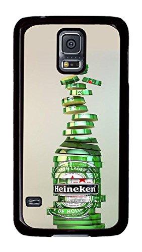 Samsung Galaxy S5 Case, S5 Case - Anti-Scratch Hard Case for Samsung Galaxy S5 Heineken Beer Drink Logo Brand Stylish Design Black Hard Back Case for Samsung Galaxy S5 (Galaxy S5 Heineken Case compare prices)