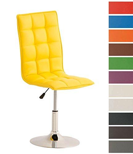 CLP-moderner-Esszimmer-Stuhl-PEKING-Lounge-Sessel-Charakter-Sitzhhe-verstellbar-40-54-cm-Sitzflche-drehbar-bis-zu-12-Farben-whlbar-gelb