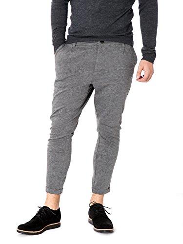 ONLY & SONS - Pantaloni da uomo solid chino exp w32 l30 grigio chiaro