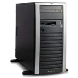 399151001 - ProLiant ML150G3 Tower,DC Xeon processor 5050(3.0GHz,667FSB,130W),Integrated 2x2MB L2 cache,512 MB PC2-5300,Embedded HP NC7781 Gigabit Server Adapter 10/100/1000 WOL,HP Embedded SATA RAID Controller,48x CD-ROM,4.5TB (6 x 750GB) SATA,LFF,nonhotplug