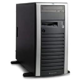 399151001 - ProLiant ML150G3 Tower,DC Xeon processor 5050(3.0GHz,667FSB,130W),Integrated 2x2MB L2 cache,512 MB PC2-5300,Embedded HP NC7781 Gigabit Server Adapter 10/100/1000 WOL,HP Embedded SATA RAID Controller,48x CD-ROM,4.5TB (6 x 750GB) SATA,LFF,nonhot