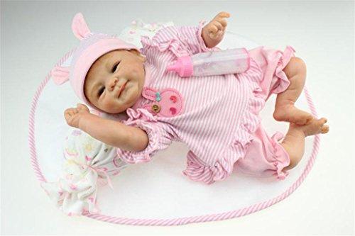Fachel Reborn doll muñeca realista de silicona muñeca bebe dollsvinyl bebés recién nacidos 18inch 45cm como en la vida real Baby Doll muñeca Reborn chupete