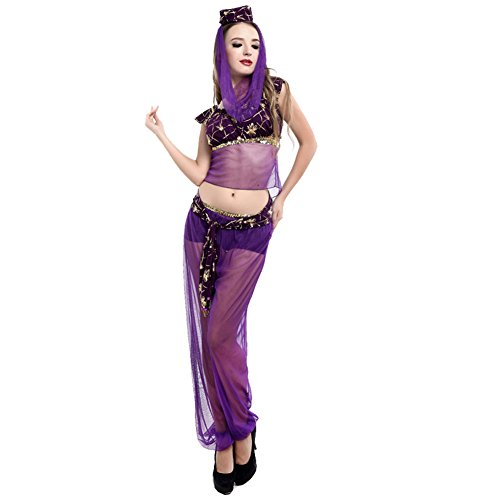 Aparde Women's Elegant Princess Jasmine Aladdin Belly Dance Costume