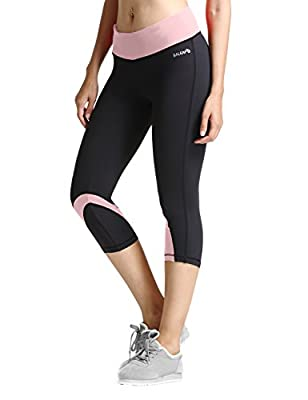 Baleaf Women's Yoga Workout Capri Legging