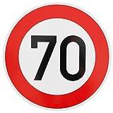 ORIGINAL VERKEHRSSCHILD 70 KM/H Schild DN 60 cm Nr. 274-57 zum Geburtstag als Geburtstagsgeschenk...