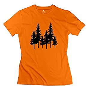 Trees Design T Shirts For Women Sports Outdoors