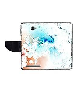 KolorEdge Printed Flip Cover For Alcatel One Touch Flash Multicolor - (1479-55KeMLogo10140AlcatelFlash)