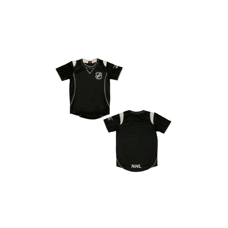 NHL National Hockey League Boys Short Sleeve Hockey Jersey Shirt Large Black