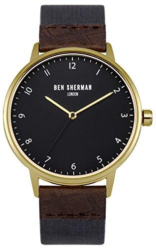 ben-sherman-herren-armbanduhr-mit-grauem-zifferblatt-analog-anzeige-und-stoff-blau-gurt-wb049ug