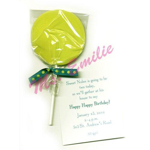 Green Lollipop Die-Cut Card, Pack Of 10 front-599532