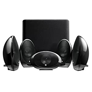 KEF KHT1005.2GB 5.1 Subwoofer Satellite System with KUBE-1 (Gloss Black)