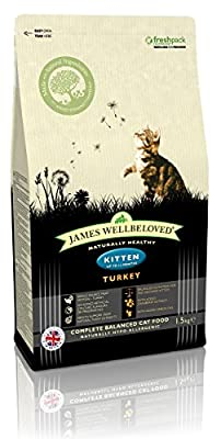 James Wellbeloved Turkey and Rice Kitten Dry Food