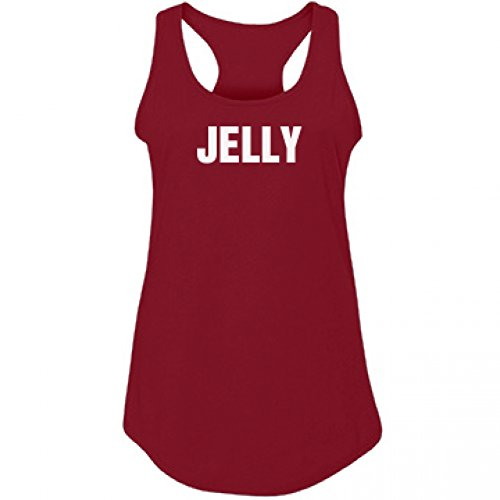 [PB&J Jelly BFF Costume Shirt: Junior Fit Racerback Tank] (College Girls Group Halloween Costumes)