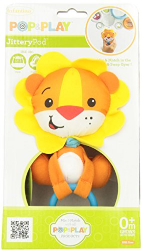 Infantino Pop & Play Rattling Jittery Pal