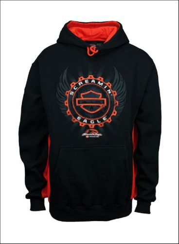 Harley-Davidson® Men's Screamin' Eagle Performance Medallion Hooded Sweatshirt. HARLMS0048