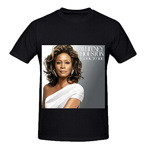 Whitney Houston I Look To You Pop Men Crew Neck Big Tall Tee Black (Southern Marsh Decal compare prices)