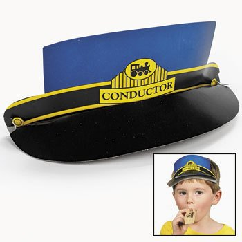 Cardboard Train Conductor Visors (1 dz)
