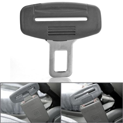 1pc Gray ABS Billet Steel Hassle-free Universal Car Safety Insert Plug Seat Belt Clasp Buckle Alarm Canceller Stopper Eliminator Fit Audi BMW Benz Toyota GMC
