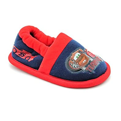 "Disney Cars ""Team 95"" Blue A-Line Slippers 5/6-11/12 (M(7/8))"
