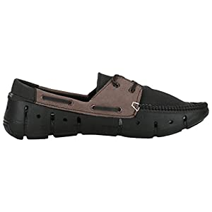 Globalite Men's Loafers Groove Dock Side Black Brown GEC0101