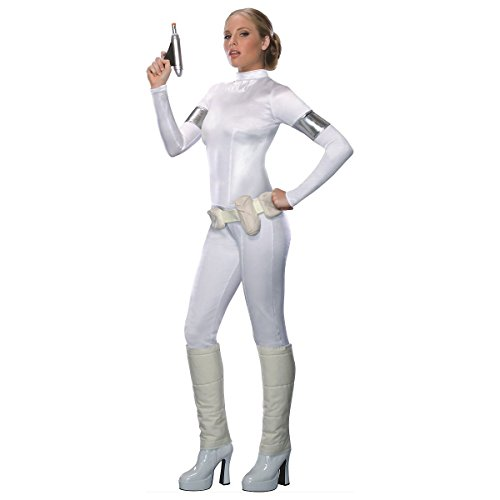[GSG Padme Amidala Costume Adult WarsWhite Jumpsuit Halloween Fancy Dress] (Padme Amidala Halloween Costumes)