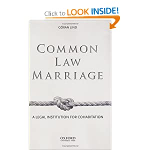 Amazon.com: Common Law Marriage: A Legal Institution for ...