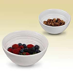 Portion Control Weight Loss Aid Measure up Bowls Set of 2