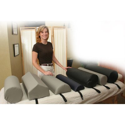 Dutchman Roll Bolster Size: Small, Color: Gray