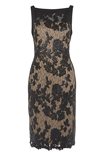 Roman Women's Sequin Shift Dress Black