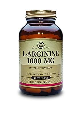 Solgar 1000mg L-Arginine Tablets - Pack of 90