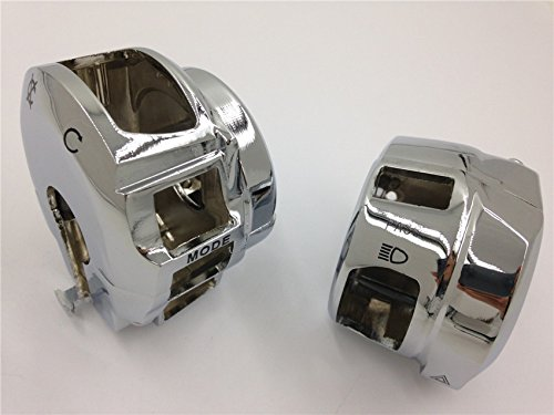 Chrome Switch Housing Cover Suzuki Gsxr600 Gsxr750 Gsxr1000 Hayabusa Gsxr1300 new motorcycle ram air intake tube duct for suzuki hayabusa gsxr1300 1997 2007 abs plastic black high quality
