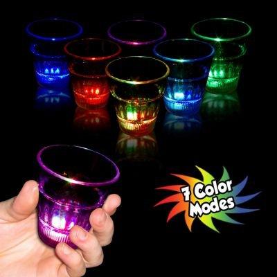 Flashing Multicolor Rainbow Led Shot Glass 2 Ounce