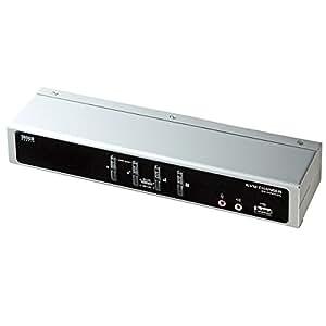 サンワサプライ SW-KVM4HDC デュアルリンクDVI対応パソコン自動切替器(4:1)