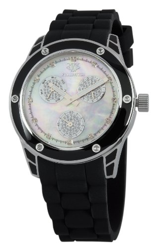 Wellington WN506-182B - Reloj analógico de cuarzo para mujer con correa de silicona, color negro