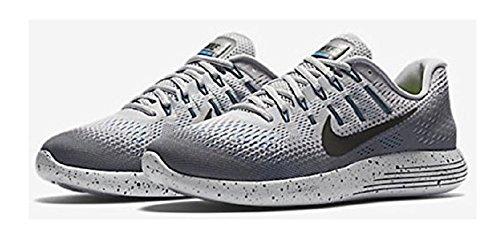 Nike Men's Lunarglide 8 Shield Wolf Grey/Black Cool Grey Running Shoe 8.5 Men US