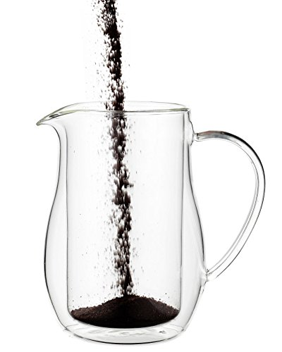 Osaka Cafetiere 6 Cup 27 Oz Double Walled Borosilicate