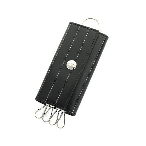 (エッティンガー)ETTINGER キーケース ETTINGER 840AJR PINSTRIPE COLLECTION ブライドルレザー PINSTRIPE/BLACK ピンストライプブラック[並行輸入]