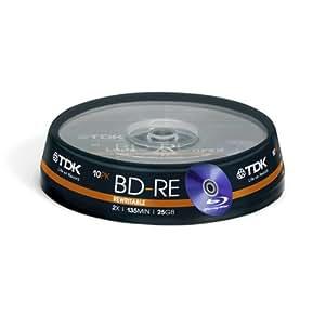 TDK BDRE-25GB-10CAKE Re-Writable Blu-ray Discs