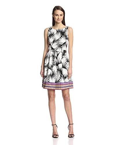 London Times Women's Printed Fit-and-Flare Dress
