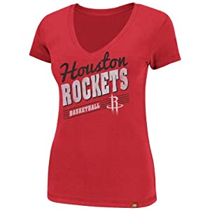 Houston Rockets NBA Ladies Abyss Cosmo V-Neck T-Shirt L by Sportiqe