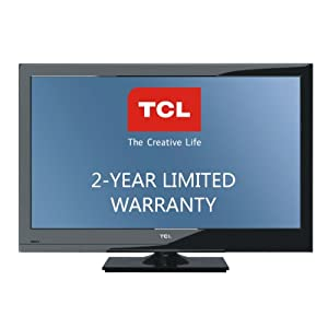 TCL 60 Hz LCD HDTV with 2-Year Warranty, Black