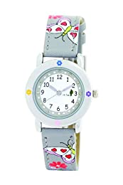 Cactus Girl's Quartz Analogue Watch CAC-53-L02 with Grey Butterflies Stone Dial