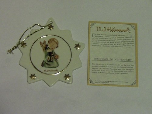 M.I. Hummel Porcelain Star Shaped Christmas Tree Ornament #B561 Guiding Angel
