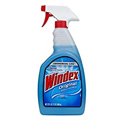 Windex 32 oz Commercial Line Original Powerized Glass Cleaner Trigger (Pack of 12)